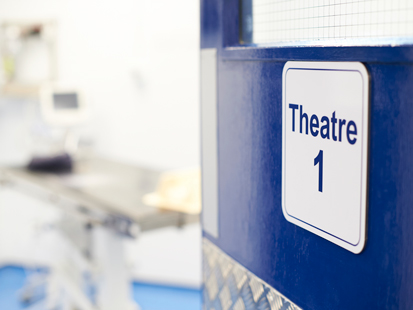Veterinary theatre signage